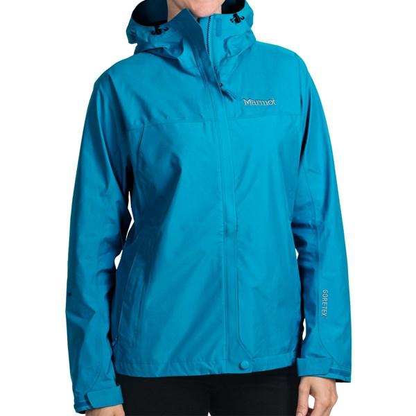Imbracaminte Femei Marmot Optima Gore-Tex Jacket - PacLite Waterproof Hooded AQUA BLUE (12)