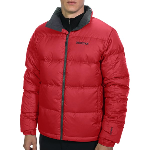 Imbracaminte Barbati Marmot Highland Down Jacket - 700 Fill Power TEAM RED (05)