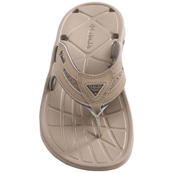 Incaltaminte Barbati Columbia Techsun Vent Flip Leather PFG Sandals MUDSTOUT (02)