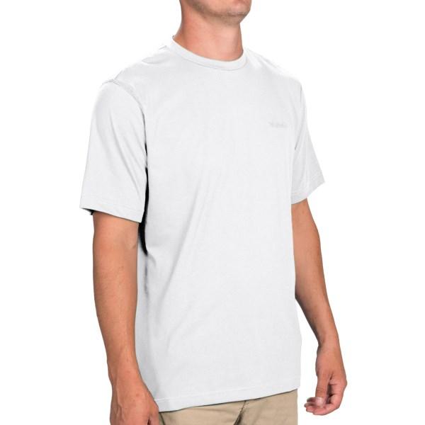 Imbracaminte Barbati Columbia Thistletown Park Crew Shirt - Short Sleeve WHITE (21)