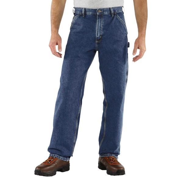 Imbracaminte Barbati Carhartt Work Pants - Washed Denim DARK STONE WASH (32)