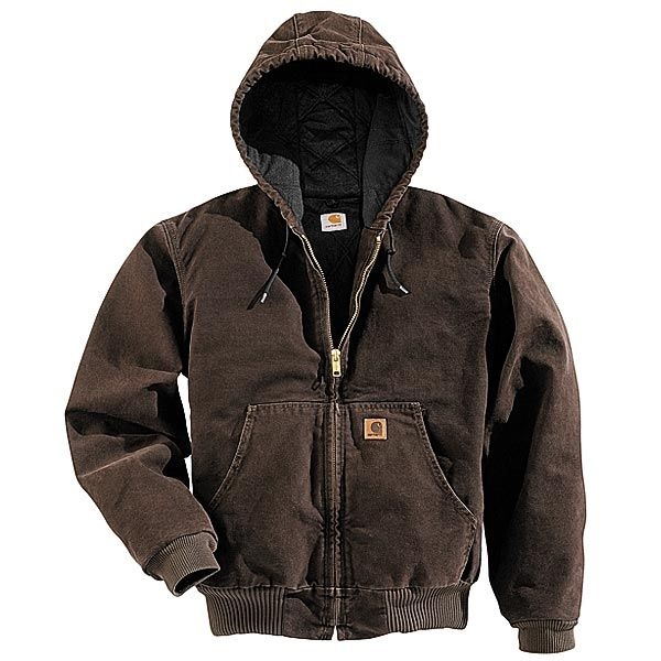 Imbracaminte Barbati Carhartt Active Jacket - Quilt-Lined (For Tall Men) GRAVEL (15)