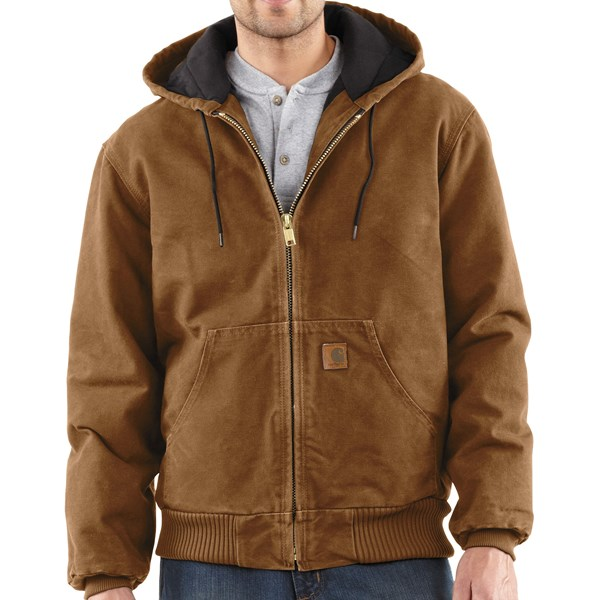 Imbracaminte Barbati Carhartt Active Jacket - Quilt-Lined (For Tall Men) CARHARTT BROWN (41)