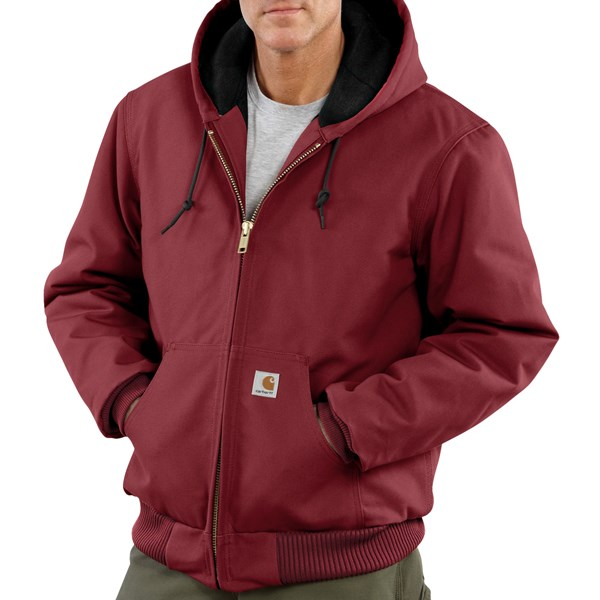 Imbracaminte Barbati Carhartt Active Jacket - Quilt-Lined (For Tall Men) DARK RED (13)
