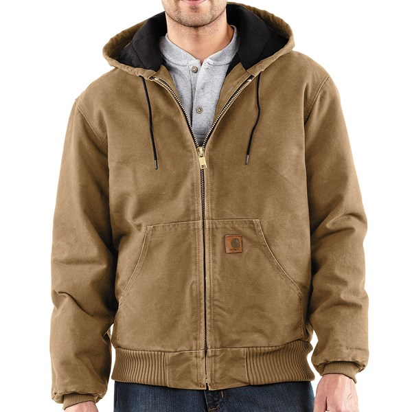 Imbracaminte Barbati Carhartt Active Jacket - Quilt-Lined (For Tall Men) FRONTIER BROWN (10)