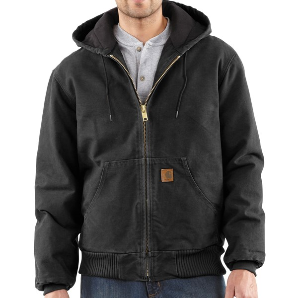 Imbracaminte Barbati Carhartt Active Jacket - Quilt-Lined (For Tall Men) BLACK (27)