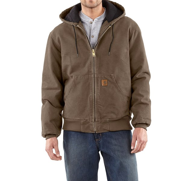 Imbracaminte Barbati Carhartt Active Jacket - Quilt-Lined (For Tall Men) LIGHT BROWN (12)