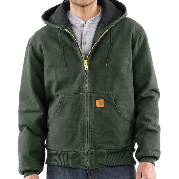 Imbracaminte Barbati Carhartt Active Jacket - Quilt-Lined (For Tall Men) MOSS (11)