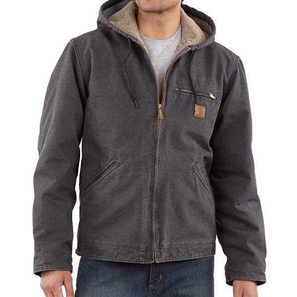Imbracaminte Barbati Carhartt Sandstone Sierra Jacket - Sherpa Pile Lining SHADOW (13)
