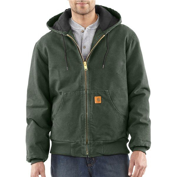 Imbracaminte Barbati Carhartt Sandstone Active Jacket - Washed Duck CARHARTT BROWN (41)