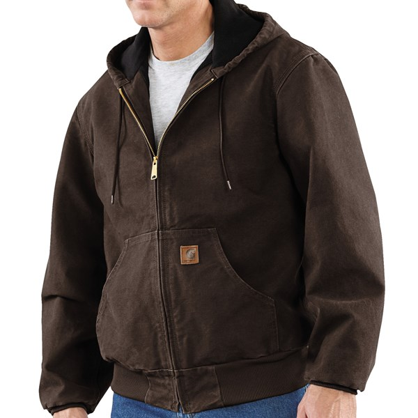 Imbracaminte Barbati Carhartt Sandstone Active Jacket - Washed Duck DARK BROWN (40)