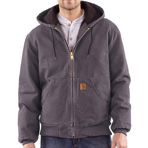 Imbracaminte Barbati Carhartt Sandstone Active Jacket - Washed Duck GRAVEL (17)
