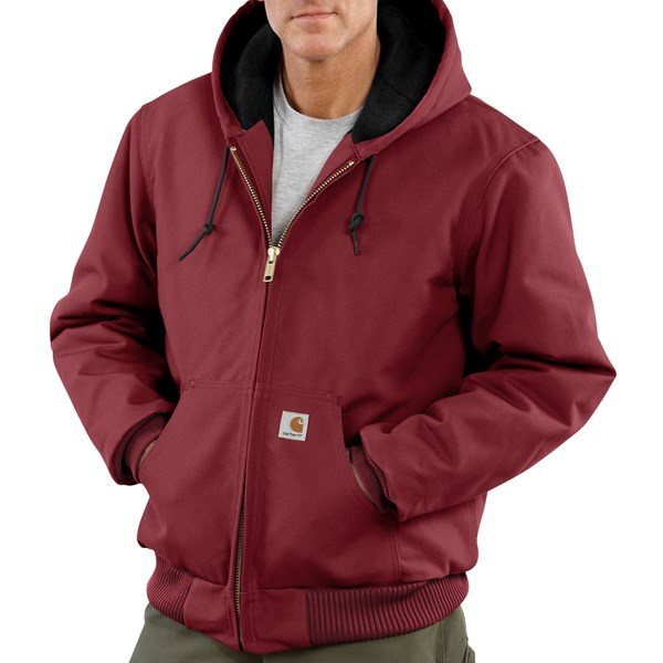 Imbracaminte Barbati Carhartt Sandstone Active Jacket - Washed Duck DARK RED (13)