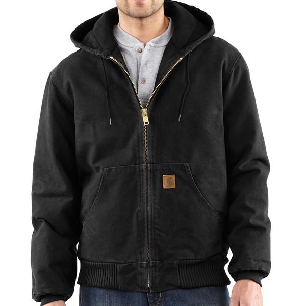 Imbracaminte Barbati Carhartt Sandstone Active Jacket - Washed Duck BLACK (27)