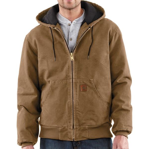 Imbracaminte Barbati Carhartt Sandstone Active Jacket - Washed Duck FRONTIER BROWN (14)