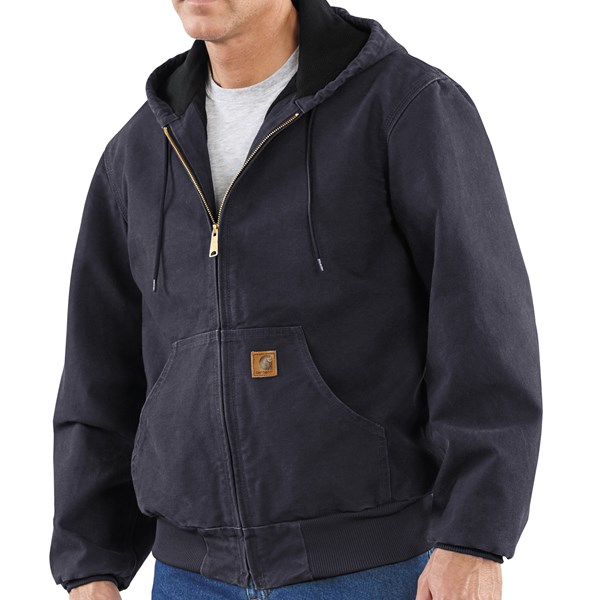 Imbracaminte Barbati Carhartt Sandstone Active Jacket - Washed Duck MIDNIGHT (02)