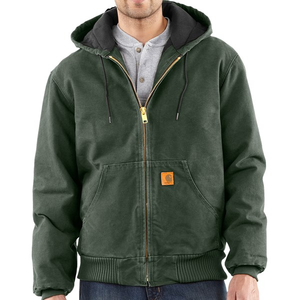 Imbracaminte Barbati Carhartt Sandstone Active Jacket - Washed Duck MOSS (11)