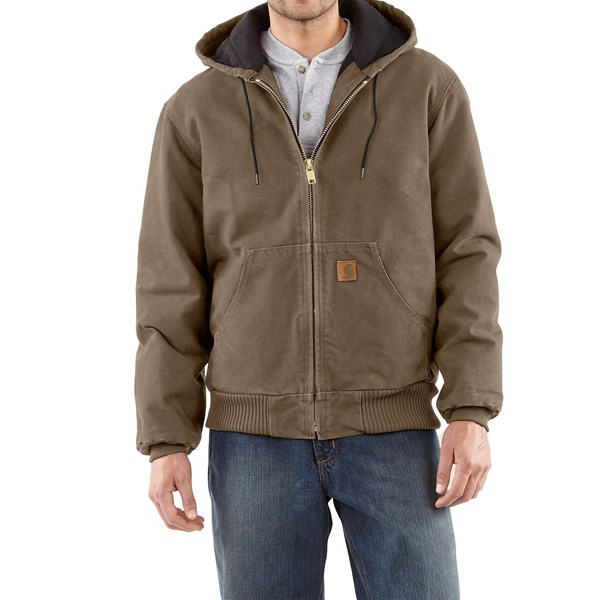 Imbracaminte Barbati Carhartt Sandstone Active Jacket - Washed Duck LIGHT BROWN (20)
