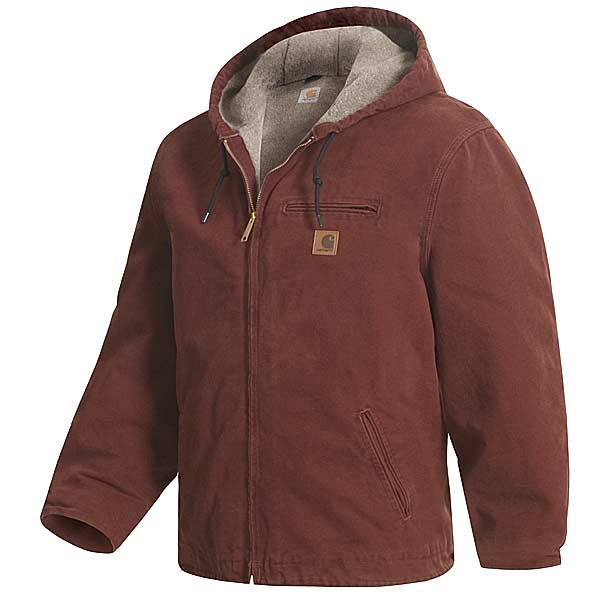 Imbracaminte Barbati Carhartt Sandstone Sierra Jacket - Sherpa Pile Lining (For Tall Men) ARMY GREEN (05)