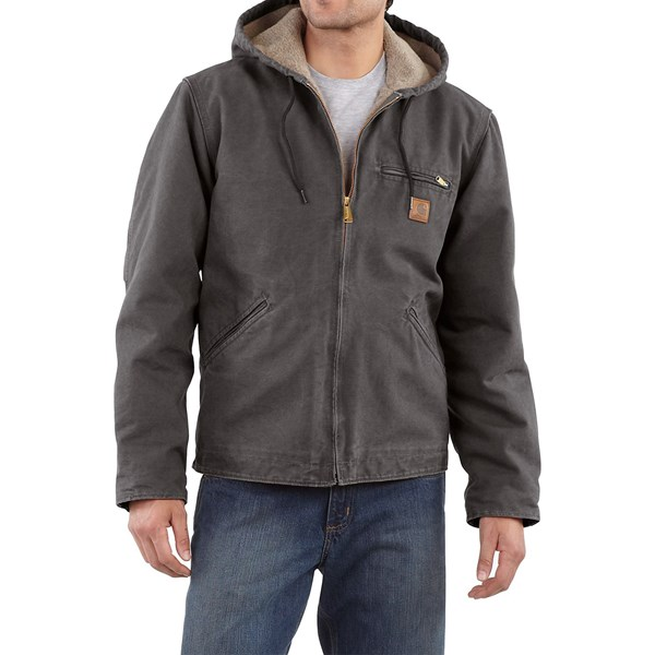 Imbracaminte Barbati Carhartt Sandstone Sierra Jacket - Sherpa Pile Lining (For Tall Men) SHADOW (12)