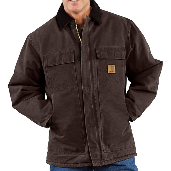 Imbracaminte Barbati Carhartt Sandstone Arctic Work Coat - Quilt-Lined (For Big Men) DARK BROWN (03)