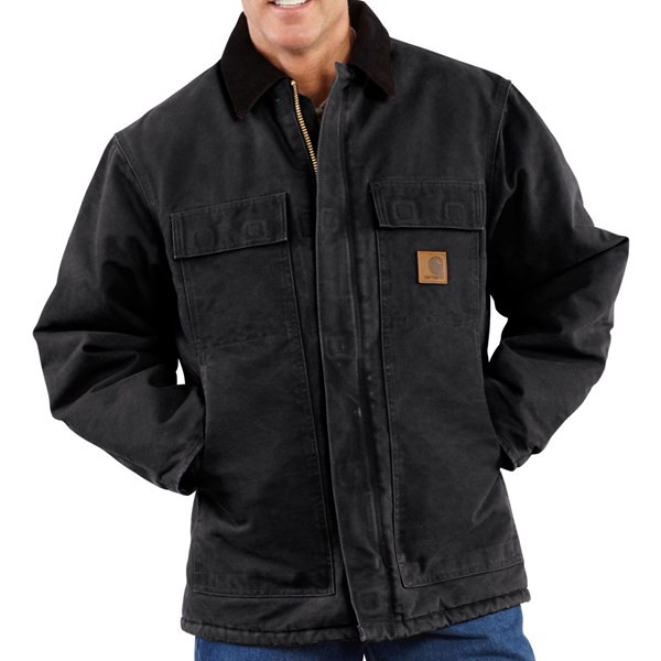 Imbracaminte Barbati Carhartt Sandstone Arctic Work Coat - Quilt-Lined (For Big Men) BLACK (27)