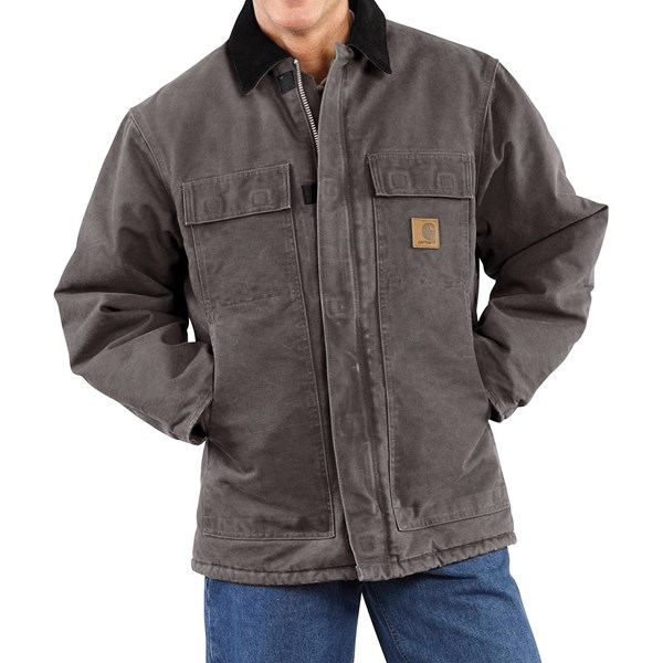 Imbracaminte Barbati Carhartt Sandstone Arctic Work Coat - Quilt-Lined (For Big Men) GRAVEL (06)