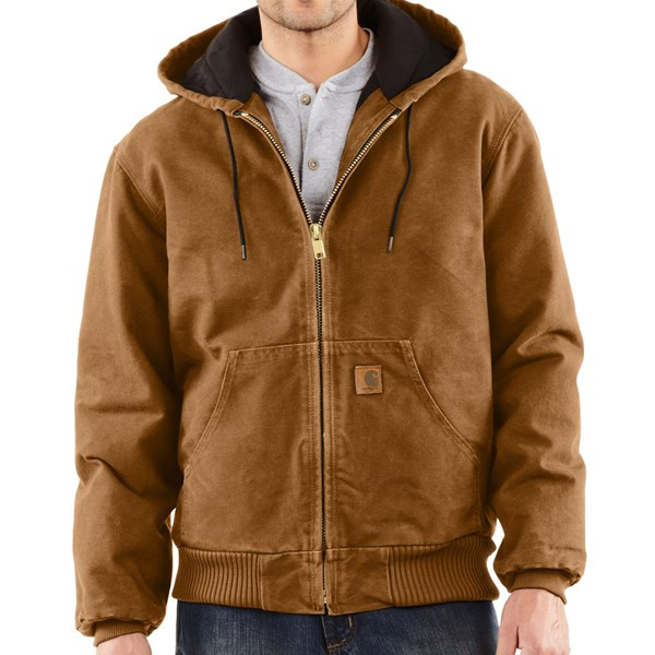 Imbracaminte Barbati Carhartt Sandstone Active Jacket - Washed Duck (For Big Men) CARHARTT BROWN (41)