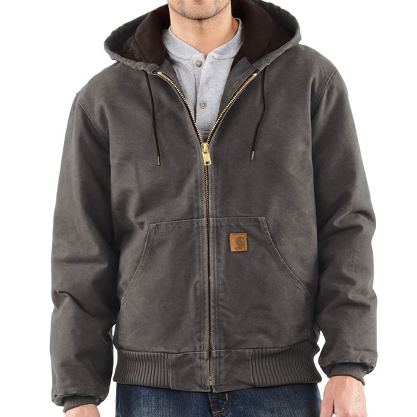 Imbracaminte Barbati Carhartt Sandstone Active Jacket - Washed Duck (For Big Men) GRAVEL (17)