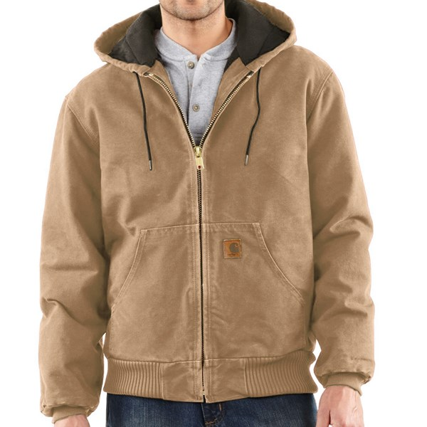 Imbracaminte Barbati Carhartt Sandstone Active Jacket - Washed Duck (For Big Men) FRONTIER BROWN (14)