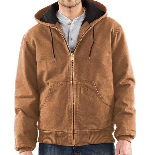 Imbracaminte Barbati Carhartt Sandstone Active Jacket - Washed Duck (For Big Men) TAN (01)