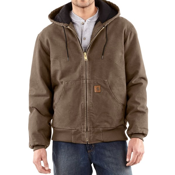 Imbracaminte Barbati Carhartt Sandstone Active Jacket - Washed Duck (For Big Men) LIGHT BROWN (19)
