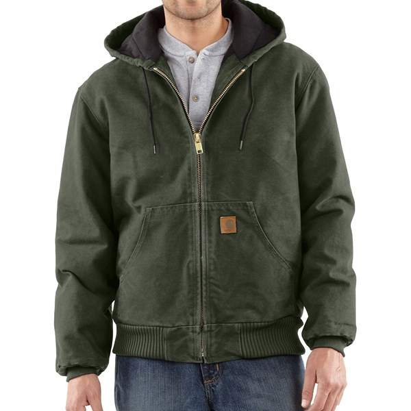 Imbracaminte Barbati Carhartt Sandstone Active Jacket - Washed Duck (For Big Men) MOSS (11)