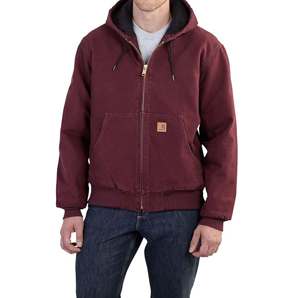 Imbracaminte Barbati Carhartt Sandstone Active Jacket - Washed Duck (For Big Men) PORT (04)