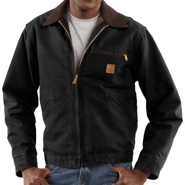 Imbracaminte Barbati Carhartt Sandstone Detroit Jacket - Blanket-Lined (For Tall Men) BLACK (07)