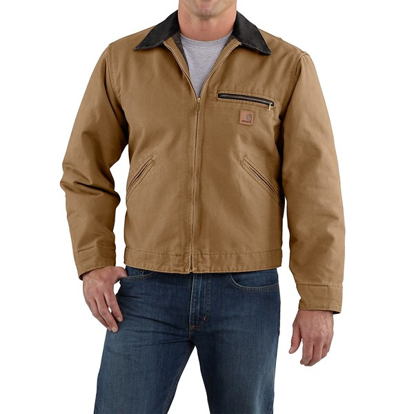 Imbracaminte Barbati Carhartt Sandstone Detroit Jacket - Blanket-Lined (For Tall Men) FRONTIER BROWN (15)
