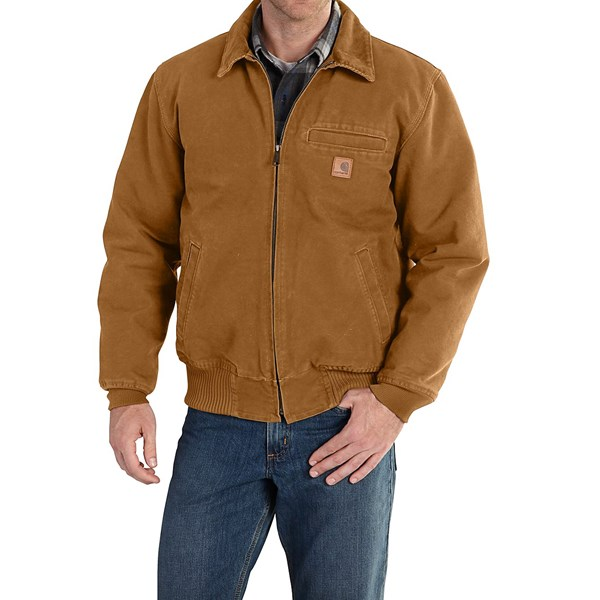 Imbracaminte Barbati Carhartt Bankston Sandstone Duck Jacket (For Big and Tall Men) CARHARTT BROWN (05)