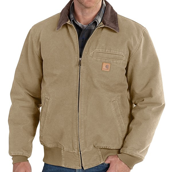 Imbracaminte Barbati Carhartt Bankston Sandstone Duck Jacket COTTONWOOD (03)