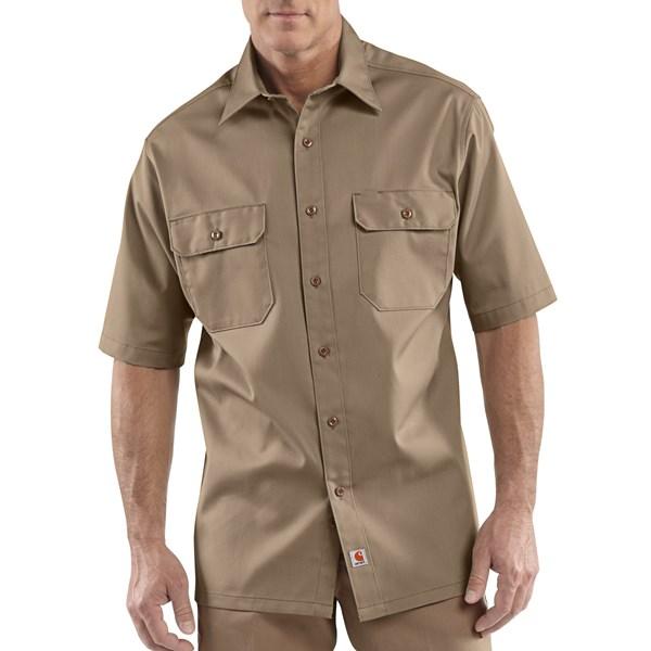 Imbracaminte Barbati Carhartt Twill Work Shirt - Short Sleeve KHAKI (03)