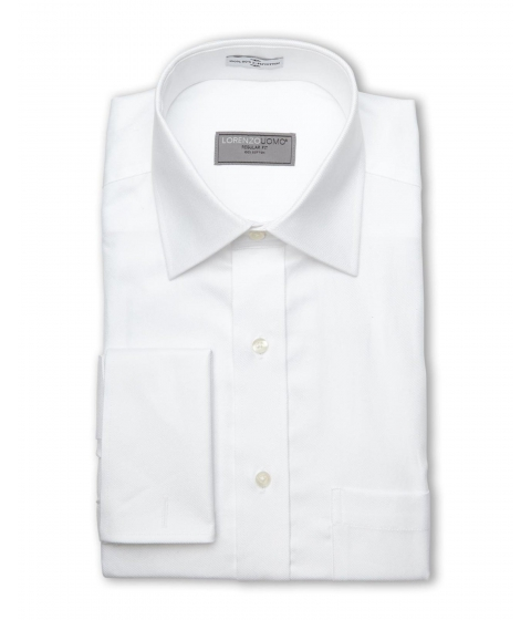 Imbracaminte Barbati Lorenzo Uomo White Twill Regular Fit Dress Shirt White