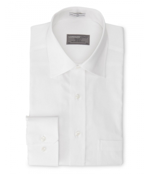Imbracaminte Barbati Lorenzo Uomo White Oxford Regular Fit Dress Shirt White