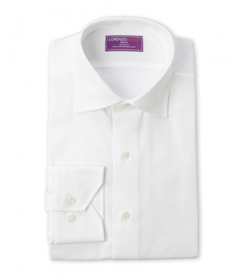 Imbracaminte Barbati Lorenzo Uomo Trim Fit Oxford Dress Shirt White