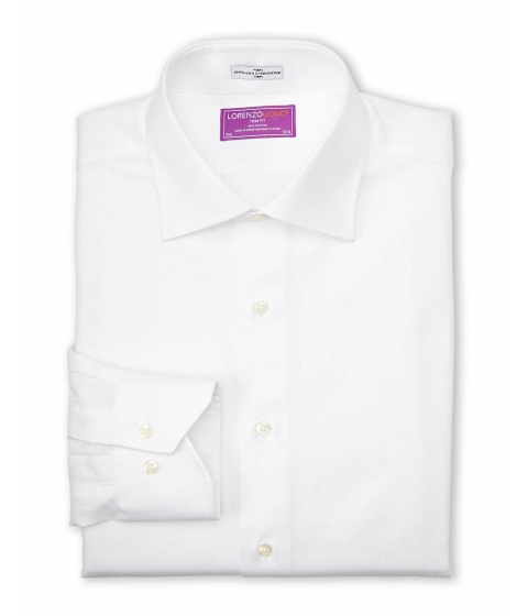 Imbracaminte Barbati Lorenzo Uomo White Trim Fit Dress Shirt White