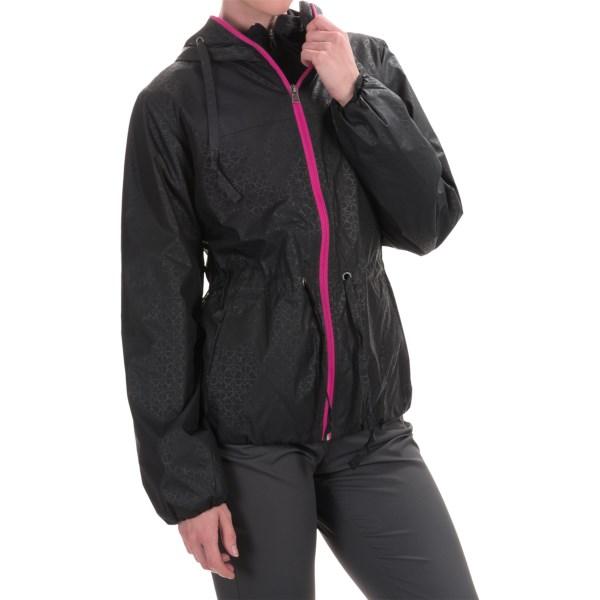 Imbracaminte Femei Columbia Auroras Wake II Omni-Shield Rain Jacket BLACK FLOWER EMBOSS (11)