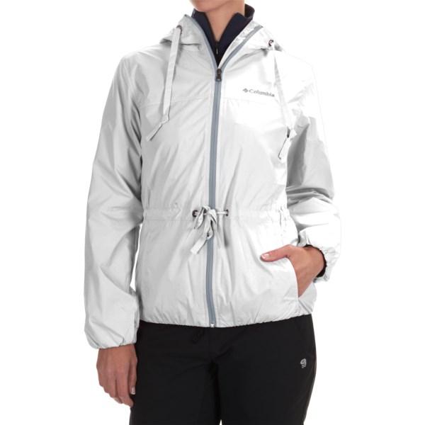 Imbracaminte Femei Columbia Auroras Wake II Omni-Shield Rain Jacket WHITE FLOWER EMBOSS (12)