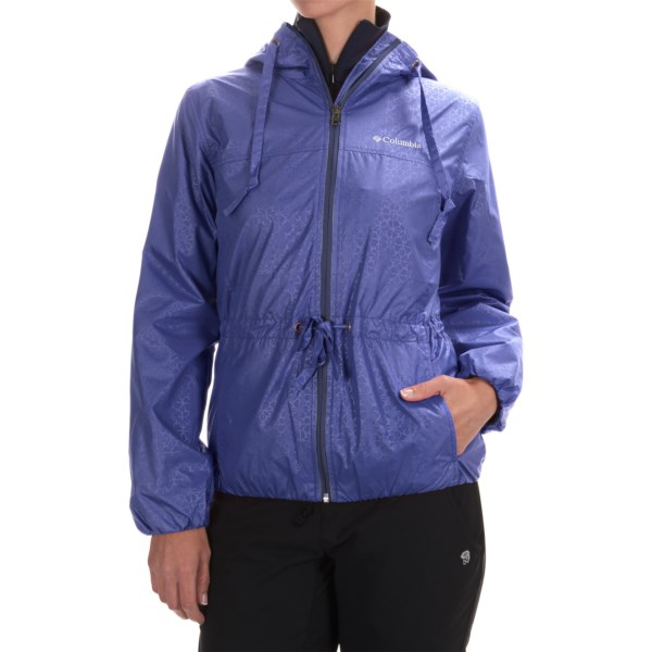 Imbracaminte Femei Columbia Auroras Wake II Omni-Shield Rain Jacket PURPLE LOTUS FLOWER EMBOSS (14)