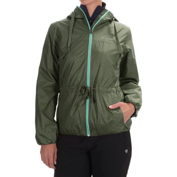Imbracaminte Femei Columbia Auroras Wake II Omni-Shield Rain Jacket CYPRESS FLOWER EMBOSS (13)