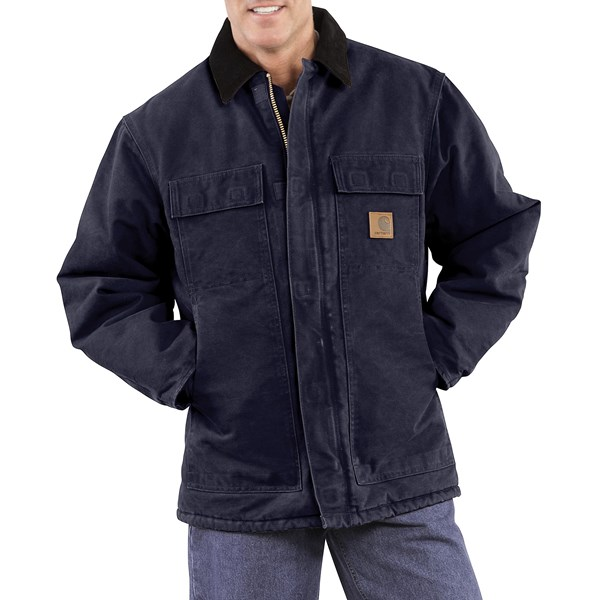 Imbracaminte Barbati Carhartt Arctic Work Coat (For Tall Men) MIDNIGHT (02)