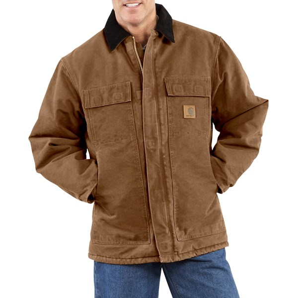 Imbracaminte Barbati Carhartt Arctic Work Coat (For Tall Men) CARHARTT BROWN (04)