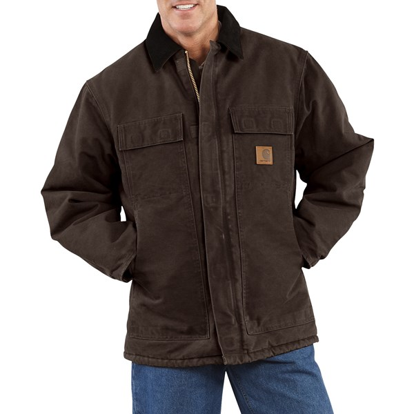 Imbracaminte Barbati Carhartt Arctic Work Coat (For Tall Men) DARK BROWN (40)
